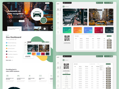 ANPR Security Services For Cars creative web landing page design landing page security system security app webapp dashboard app ui appdevelopment app design