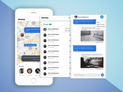 Nearby Chat App oneononechat mobileappdesign chatting map geolocation nearby chat app ux mobile app creative appdevelopment ui app design