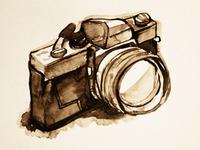 Camera Watercolor Sketch