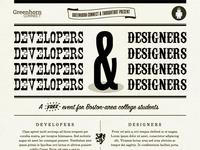 Developers Developers Developers Developers & Designers...