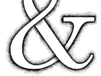 Ampersand in dots