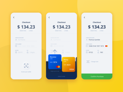 Daily UI #002 OneCard Credit Card Checkout