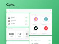 Daily UI #007 Cake Settings Dashboard