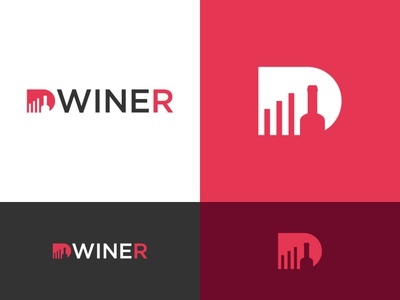 D wine logo