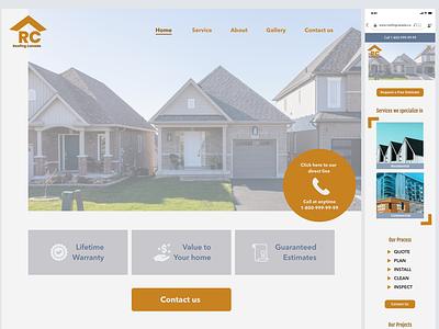 Roofing Company Web Design web ui ux branding design