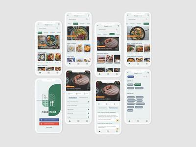 FoodMood - Recipe App app icon logo ux ui design