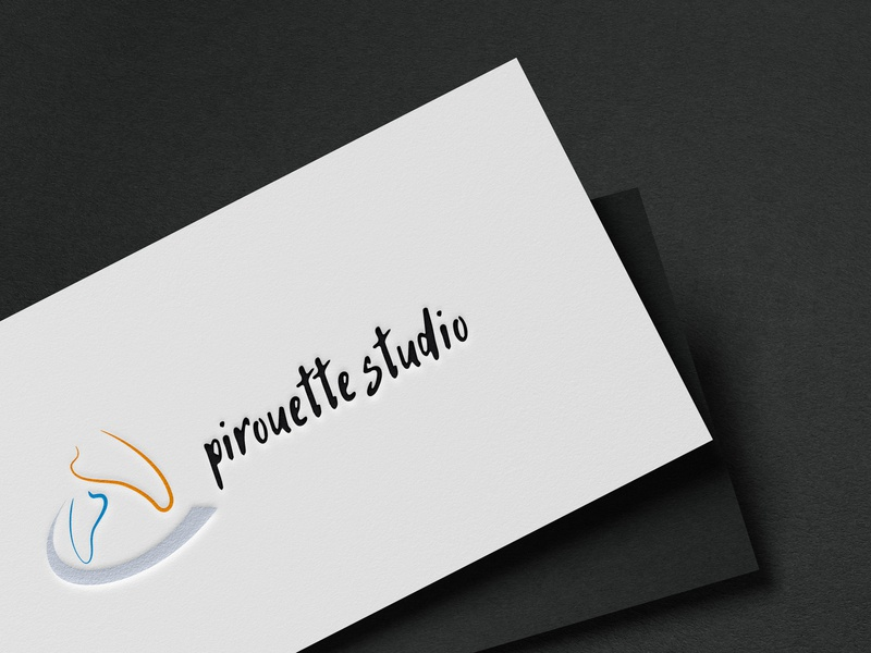 logo for  dance studio branding logo design