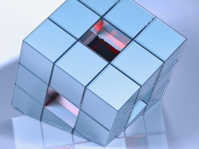 abstract cube figures cinema 4d cinema4d 3d illustration