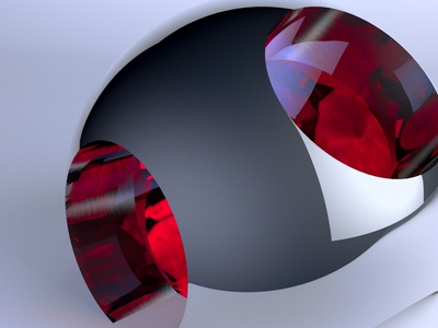 abstract sphere cinema 4d 3d illustration