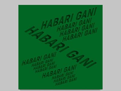 abstract text afisha poster illustration