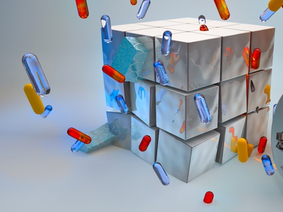 abstract figures 3d illustration