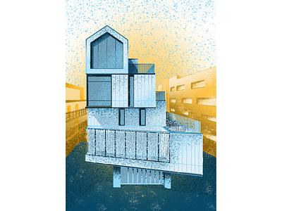 Facade architechture design graphicdesign illustration