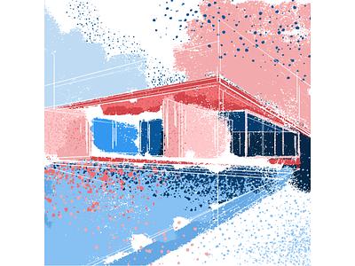 barcelona pavilion architechture graphicdesign illustration