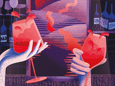 wine tasting editorial art editorial illustration illustration
