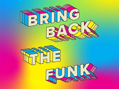 Funk2 3d lettering illustrator cc 3d design lettering typography design vector