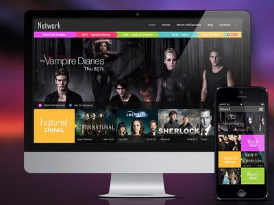 TV Network Responsive Website