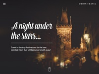 Travel Landing Page Header