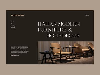 Italian Furniture Website Concept minimal ux web typography design ui