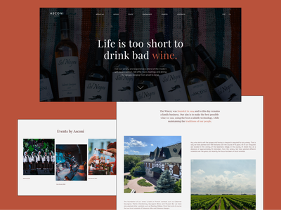 Website Concept for Asconi Winery web ux ui typography minimal design