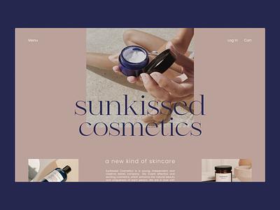 Sunkissed Cosmetics ui web design minimal typography