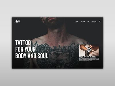 Tattoo Studio Website tattoo website design trend tattoos tattoo typogaphy icon concept ux uiux uidesign ui website concept website design website