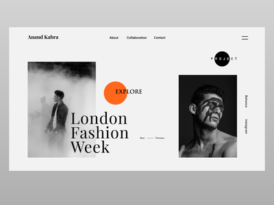 Fashion LookBook Landing Page 🖐️ website design webdesign adobexd week london clothes fashion uxdesign website design concept ux uiux uidesign ui