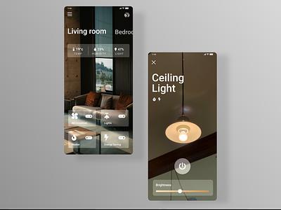 Smart Home App 📱 minimalist minimal figma adobe xd adobe smart smarthome app design app uxdesign design ux uiux uidesign ui