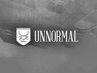 Unnormal - Crest & Wordmark Logo Concept