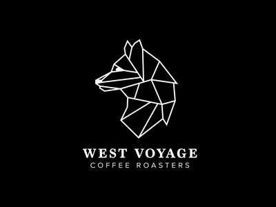 West Voyage Coffee Roasters Logo experimental packaging icon vector illustration layout print typography product design logo brand design branding