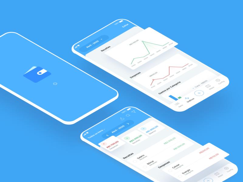 My Budget - App Redesign app design app redesign blue redesign ui design