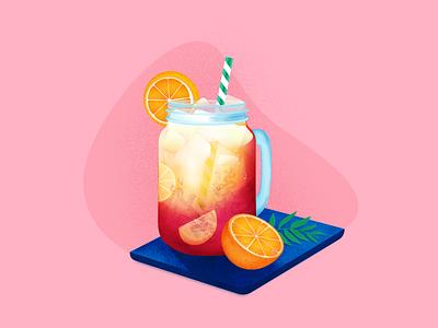 Tequila Sunrise drink vector illustration
