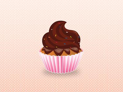Thank you!!! illustration cupcake debut chocolate gift thankyou dribbble