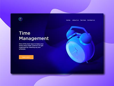 Time clock website concept gradient icon gradient ui  ux ui time off