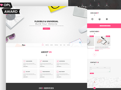 Pera – HTML5 Responsive Agency Template pera html ux ui psd design template web corporate business onepage