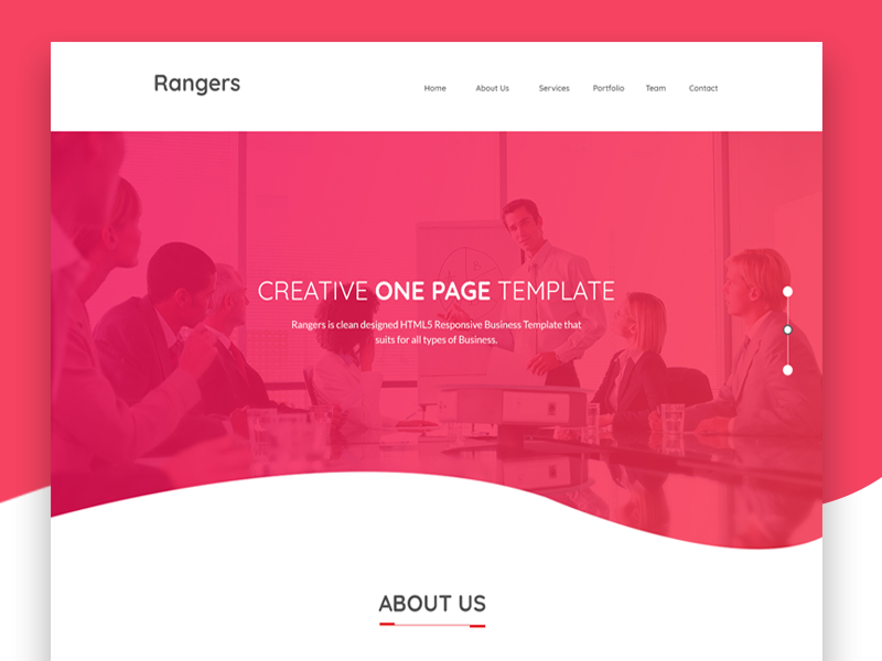 Rangers Corporate Web Template Design