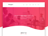 Rangers Corporate Web Template Design