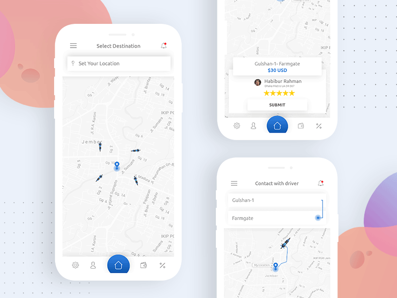 RideX - Ride Sharing Mobile App Concept Design by Towkir