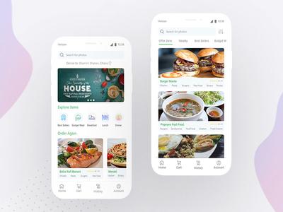 Foodpasta - Restaurant app design concept ux designer clean ui app concept restaurant app restaurant typography ui design ux design design ui ux