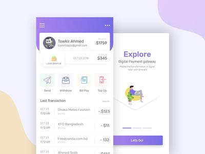 Online Payment Gateway  App Design Concept app concept payment app payment gateway online payment gateway ui design ux design design ui ux