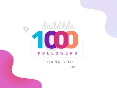 1K Followers II Thank you typography ux design template ui ux web ui design love design 1000 followers 1k followers 1k