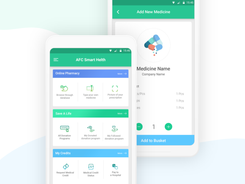 Online Medicine Sell Mobile App Design Concept by Towkir