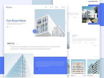 Fihouse - Real Estate Website Home Page Concept website home page real estate website real estate corporate template ux design ui design web design ui ux