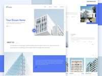 Fihouse - Real Estate Website Home Page Concept