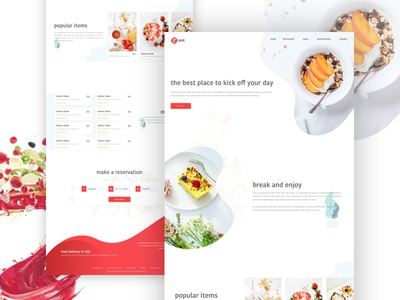 Rrent - Restaurant Website Concept Design restaurant website concept website concept restaurant webdesign corporate business template web ux design ui design design ui ux