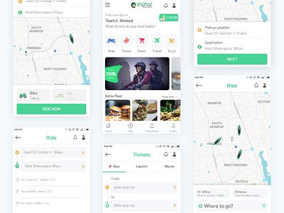 Sohoz - Mobile App Re Design Concept ride sharing ride share app sohoz mobile app business template ux design ui design design ui ux