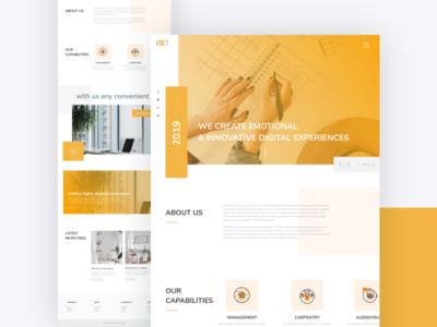 Website Home Page Design Concept web template webdesign corporate business web template ux design ui design design ui ux