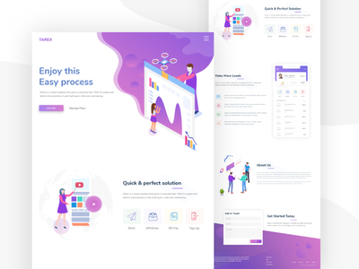 Tarex - Landing Page Concept webdesign landing page ui landing page business web ux design ui design design ui ux