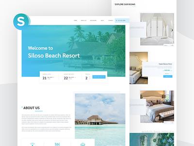 Siloso - Resort Booking Website Concpet booking concept booking website resort booking resort hotel booking web template webdesign corporate business web ux design ui design design ui ux