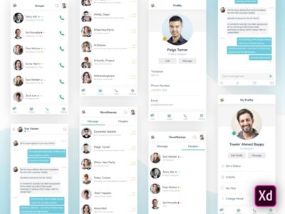 Slack - Mobile App ReDesign Concept (XD Freebie)