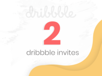 2 Dribbble Invites to Giveaway